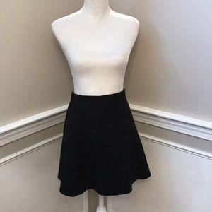 LOFT Black (Elastic Waistband) Skirt- Size S NWT!